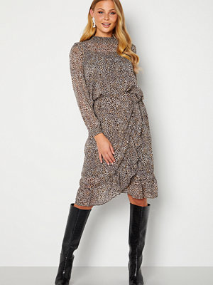 Only Star Fake Wrap Skirt Taupe Gray AOP Leo