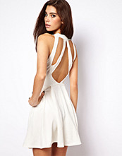 ASOS Embossed Skater Dress With Cage Back