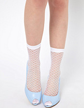 ASOS 50 Den Geo Pattern Fish Net Ankle Sock