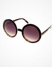ASOS Tort Mixed Frame Round Sunglasses