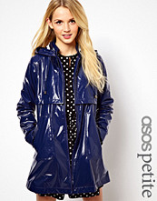 ASOS PETITE Exclusive Raincoat With Stripe Lining