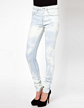 ASOS Ridley Supersoft High Waisted Ultra Skinny Jeans In Bleach Out Wash