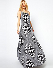 ASOS Maxi Dress In Optical Art Print