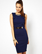 Paper Dolls Cut Out Pencil Dress with Frill Sleeve
