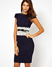 Paper Dolls Lace Waistband Dress with Belt