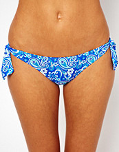 Caprice By Caprice Bandana Print Tie Side Bikini Bottom