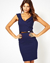 Paper Dolls Belted Pencil Dress with Open Neck