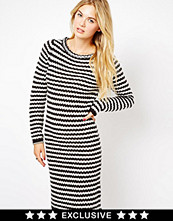 Klänningar - Vila Stripe Knitted Dress