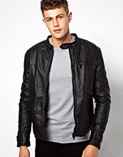 Jackor - Barneys Originals Barney's Leather Look Biker Jacket
