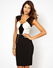 Paper Dolls Belted Pencil Dress in Colour Block