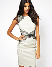 Paper Dolls Pencil Dress with Eyelash Lace
