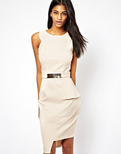 Paper Dolls Belted Pencil Dress with Asymmetric hem