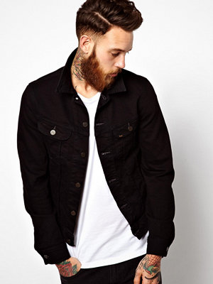 Jackor - Lee Denim Jacket Slim Fit Rider Stay Black Stretch