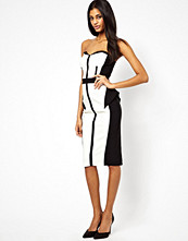 Paper Dolls Bandeau Pencil Dress with Notch Detail
