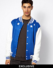 Jackor - Reclaimed Vintage Bomber Jacket with Stars and Back Print
