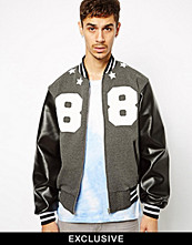 Jackor - Reclaimed Vintage Varsity Jacket with 88 Print