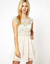 Club L Crochet Skater Dress