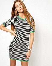 Klänningar - ASOS Bodycon Dress In Stripe With Bright Over Locking
