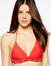 Caprice By Caprice Rivet Trim Fixed Triangle Bikini Top