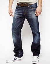 Jeans - Nudie Jeans Hank Rey Straight Fit Organic Blue