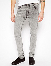 Jeans - Pull&bear Super Skinny Jeans in Acid Wash