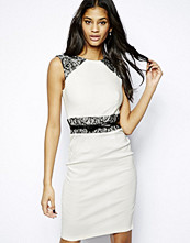 Paper Dolls Pencil Dress with Lace Raglan and Waist