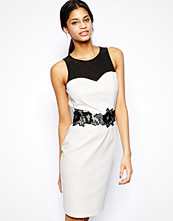 Paper Dolls Pencil Dress with Lace Waist