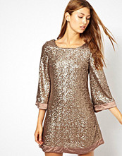 Klänningar - Jarlo Sequin Tunic Dress With Flute Sleeves