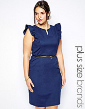 Paper Dolls Plus Frill Shoulder Pencil Dress