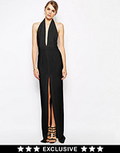 Klänningar - Solace London Aeryn Maxi Dress With Plunge Neck and Thigh Split