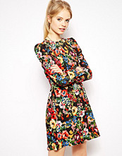 Klänningar - Love Moschino Dress with Puff Sleeves in Floral Print