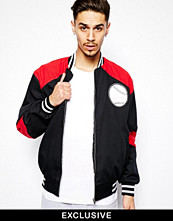 Jackor - Reclaimed Vintage Bomber Jacket with Ball Game Embroidery