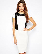 Paper Dolls Pencil Dress with PU Panels