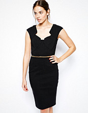 Paper Dolls Pencil Dress with Gold Belt
