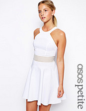 ASOS PETITE Exclusive Cutaway Skater Dress with Sheer Detail