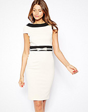 Paper Dolls Textured Belted Pencil Dress With Bardot