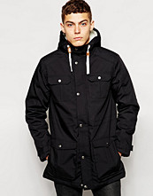 Jackor - !Solid Solid Parka With Borg Lined Hood