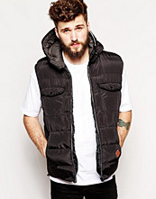Jackor - Bellfield Padded Gilet With Hood