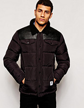 Jackor - Bellfield Padded Nylon Jacket With PU Yoke