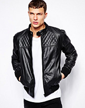 Jackor - Bench Jacket Faux Leather Biker