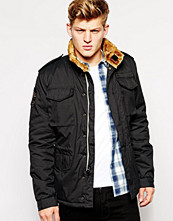 Jackor - Alpha Industries Troop Jacket With Faux Fur Lined Collar