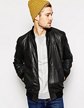 Jackor - Selected Premium Leather Bomber Jacket