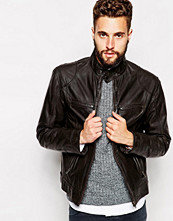 Jackor - Barneys Originals Barney's Leather Biker Jacket