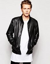 Jackor - Barneys Originals Barney's Leather Baseball Jacket