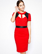 Paper Dolls Pencil Dress with Cut-Out Yoke