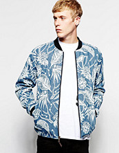 Jackor - Son Of Wild Printed Denim Bomber Jacket