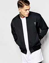 Jackor - IZZUE Bomber Jacket With PU Side Panels