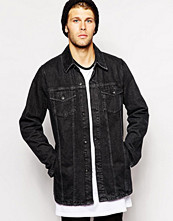 Jackor - The Laundry Folk Denim Jacket Longline Black Wash