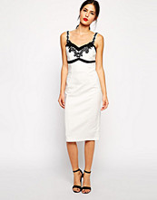 Paper Dolls Paperdolls Bodycon Dress with Lace Bodice