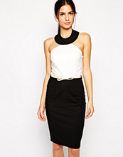 Paper Dolls Paperdolls Pencil Dress with Egyptian Neckline in Mono